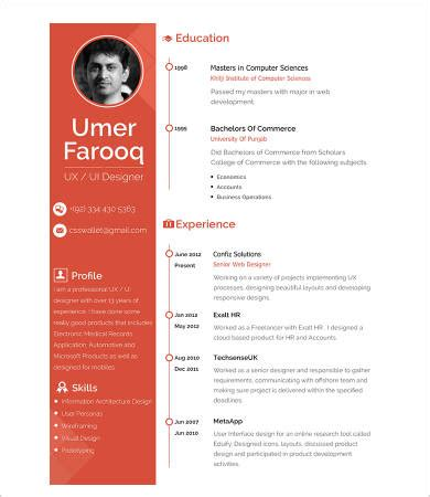 Sample of a graphic designers resume